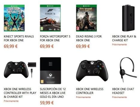 precio oficial a los juegos de Xbox One