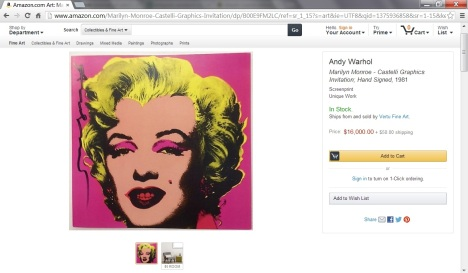 andy warhol amazon