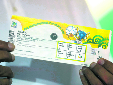 ENTRADAS PARA LA COPA CONFEDERACIONES 2013 EN BRASIL