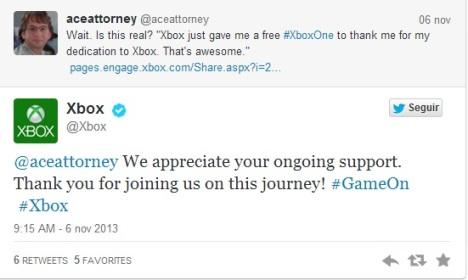 Microsoft regala Xbox One