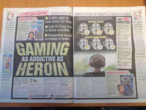 Los juegos son tan adictivos como la heroína